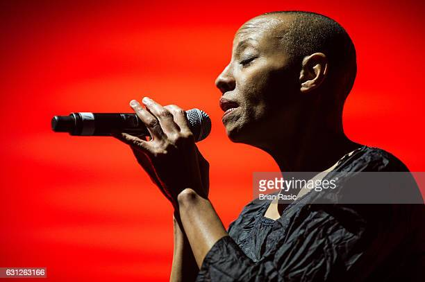 Gail Ann Dorsey performs during a special concert Celebrating David Bowie With Gary Oldman Friends on what wold have been Bowie's 70th birthday at O2...