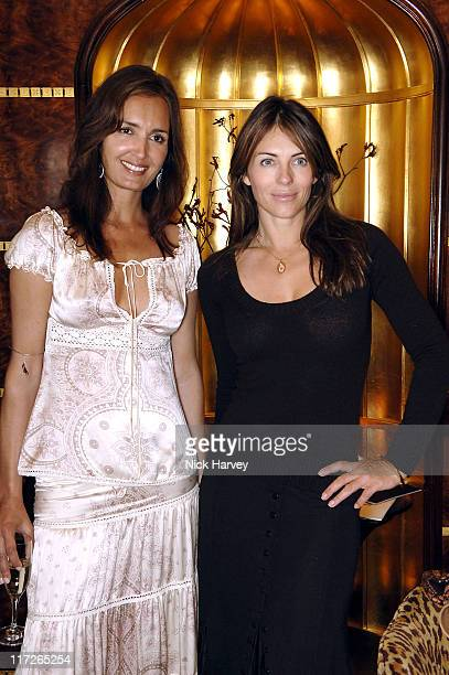 Gail Elliott and Elizabeth Hurley during Gail Elliott Presents Little Joe with Tea at The Ritz at The Ritz in London Great Britain