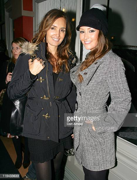 Gail Elliott and Erin McNaught during Terry Biviano Shoe Store Opening June 19 2007 at Strand Arcade in Sydney Australia