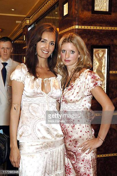 Gail Elliott and Lainey Sheriden Young during Gail Elliott Presents Little Joe with Tea at The Ritz at The Ritz in London Great Britain