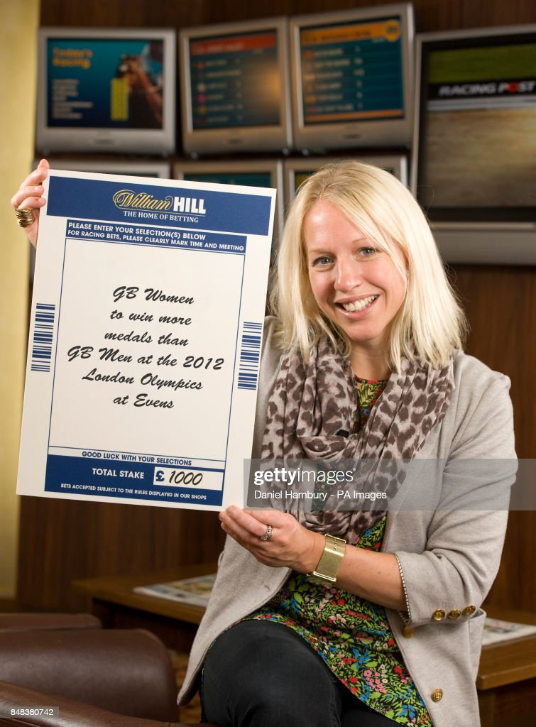 Gail Emms pictured at William Hill betting shop in central