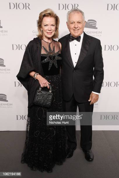 Gail Engelberg and Alfred Engelberg attend the Guggenheim International Gala Dinner made possible by Dior at Solomon R Guggenheim Museum on November...