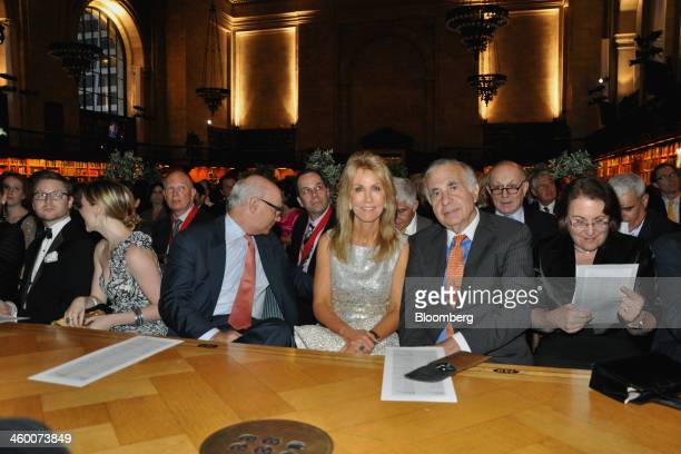 Gail Golden center and her husband Carl Icahn chairman of Icahn Enterprises LP front second right attend a gala honoring the centennial of the New...