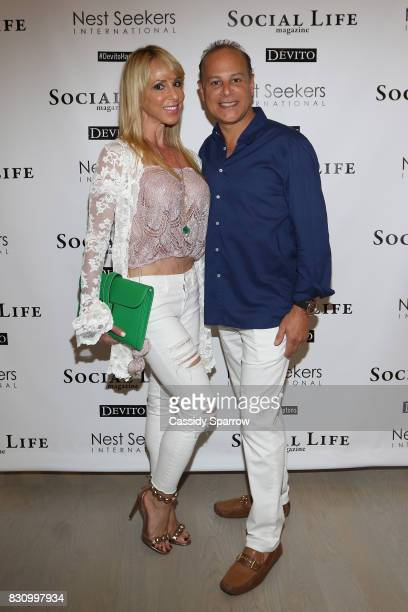 Gail Greenberg and DrStephen Greenberg attend the Social Life Magazine Nest Seekers August Issue Party on August 12 2017 in Southampton New York