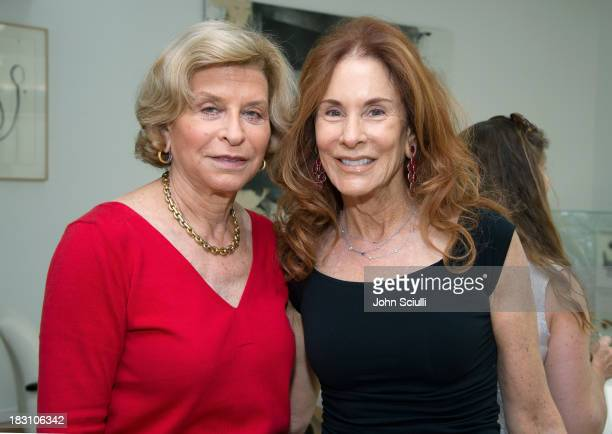 Gail Hollander and Pamela Hollander attend the Rema Hort Mann Foundation conversation with Susan and Michael Hort on September 28 2013 in Los Angeles...