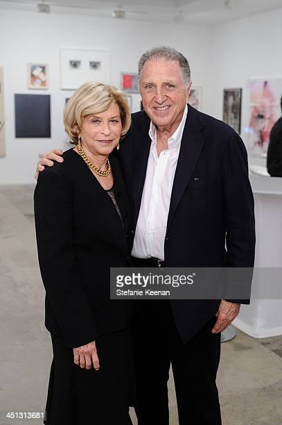 Gail Hollander and Stanley Hollander attend The Rema Hort Mann Foundation LA Artist Initiative Benefit Auction on November 21, 2013 in Los Angeles,...