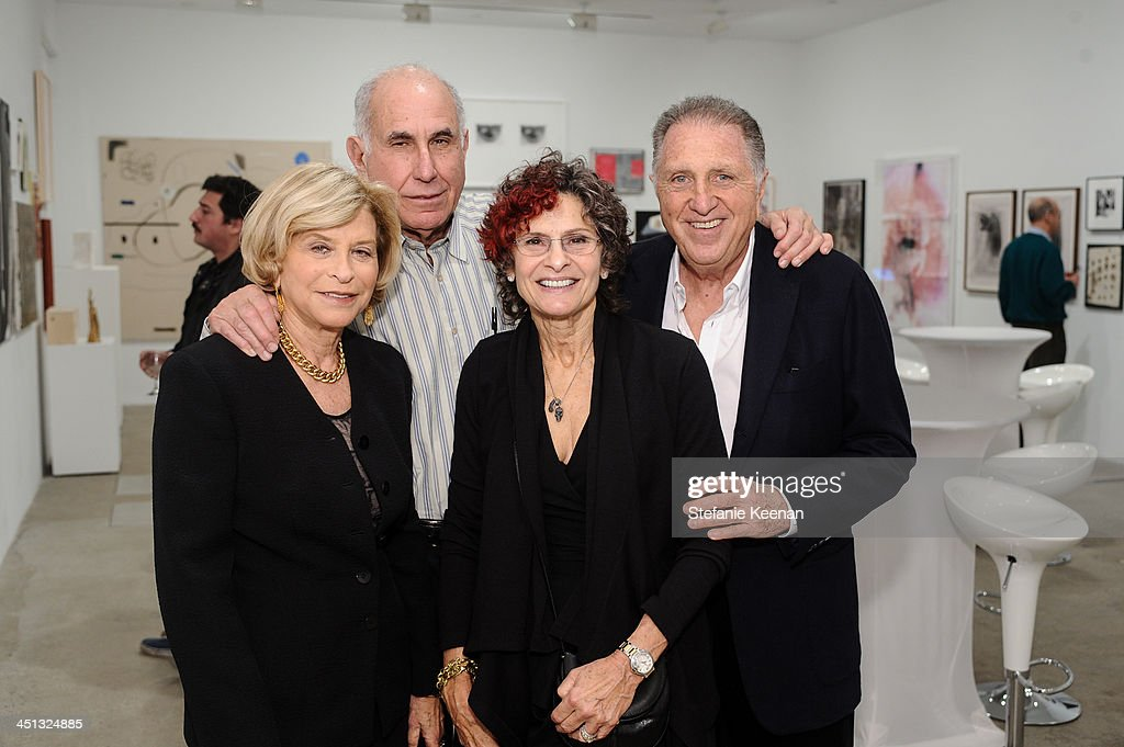 Gail Hollander, Michael Hort, Susan Hort and Stanley Hollander attend The Rema Hort Mann Foundation LA Artist Initiative Benefit Auction on November 21, 2013 in Los Angeles, California.