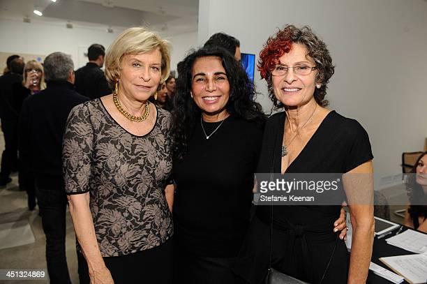 Gail Hollander Shanit Schwartz and Susan Hort attend The Rema Hort Mann Foundation LA Artist Initiative Benefit Auction on November 21 2013 in Los...