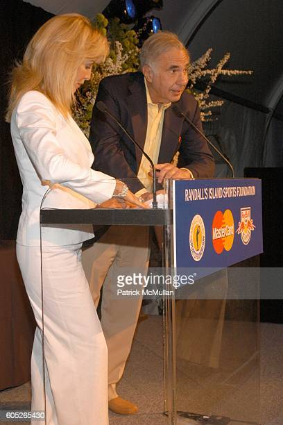 Gail Icahn and Carl Icahn attend Randall's Island Sports Foundation and MasterCard Celebrate Soccer in the USA at Randall's Island on May 8 2006 in...