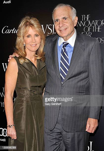 Gail Icahn and Carl Icahn attend the 2011 WSJ Magazine Innovator of the Year Awards at the Museum of Modern Art on October 27 2011 in New York City