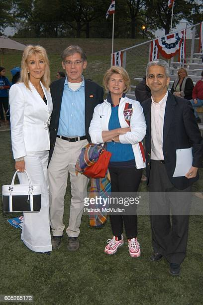 Gail Icahn Karen Cohen and Sunil Gulati attend Randall's Island Sports Foundation and MasterCard Celebrate Soccer in the USA at Randall's Island on...