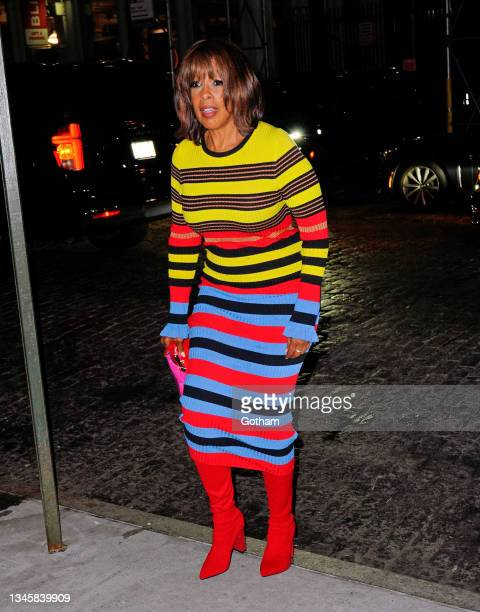 Gail King arrives at SNL afterparty on October 10, 2021 in New York City.