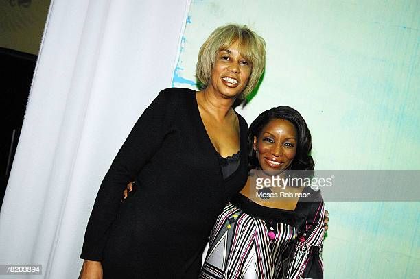 Gail Mitchell and Stephine Mills attend the Billboard RB HipHop awards Party on November 30 2007 at Dreamz ATL Nightclub in Atlanta Georgia Mills...