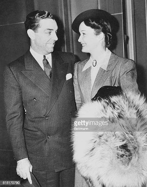 Gail Patrick film star and her husband Robert Cobb owner of the famous Brown Derby restaurants in California as they arrived in New York 10/18 from...