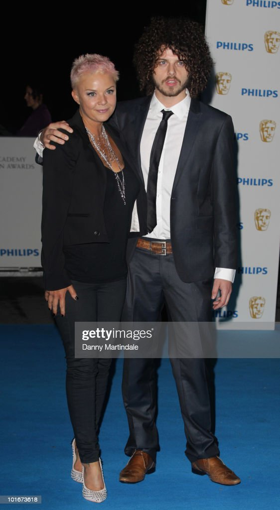 Gail Porter and a guest attend the after party for the Philips British Academy Television awards (BAFTA) at Natural History Museum on June 6, 2010 in London, England.