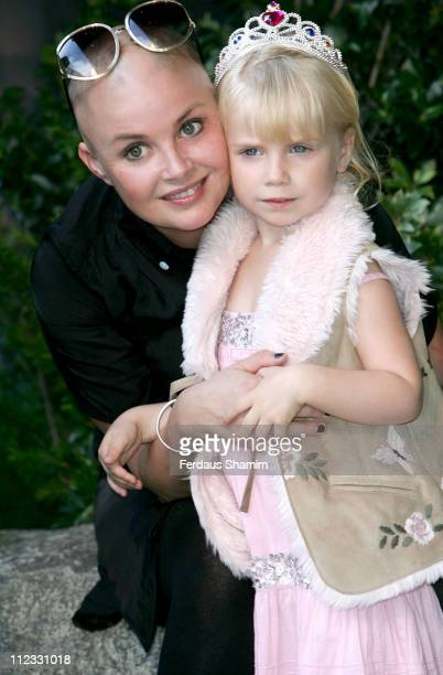 Gail Porter and daughter during Hoodwinked VIP Gala Screening in London Great Britain