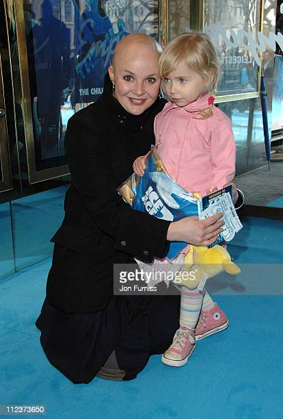 Gail Porter and Daughter during Ice Age 2 The Meltdown London Premiere Inside Arrivals at Leicester Square in London Great Britain