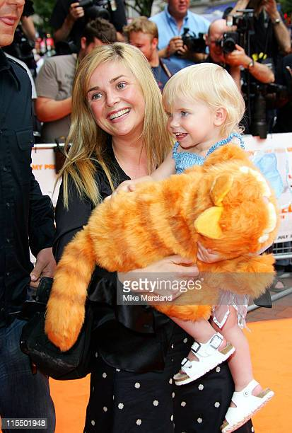"""Gail Porter and daughter Honey during The UK Charity Premiere Of """"Garfield the Movie"""" - Arrivals at Liecester Square Vue Cinema in London, Great..."""