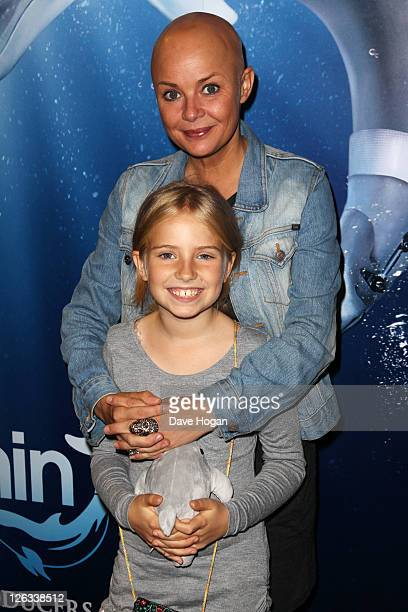 Gail Porter and her daughter Honey attend a screening of Dolphin Tale in 3D at The Vue West End on September 25 2011 in London United Kingdom
