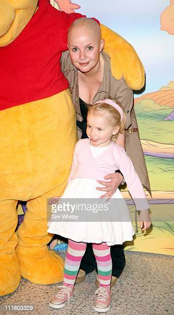 Gail Porter and her daughter Honey during National Cuddle Day Photocall April 26 2006 at The Disney Store in London Great Britain