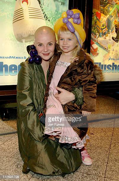 Gail Porter and Holly Hipgrave during Flushed Away London Premiere Inside Arrivals at Empire Leicester Square in London Great Britain