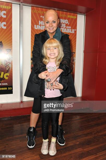 Gail Porter and Honey attends the VIP screening of Fantastic Mr Fox at Odeon West End on October 18 2009 in London England