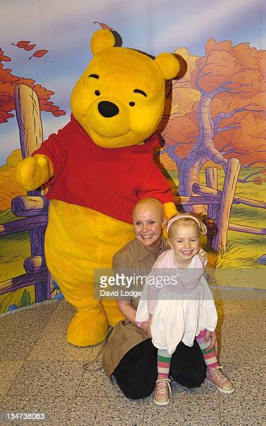 Gail Porter and Honey Porter during National Cuddle Day 2006 Photocall at The Disney Store 360366 Oxford Street in London Great Britain