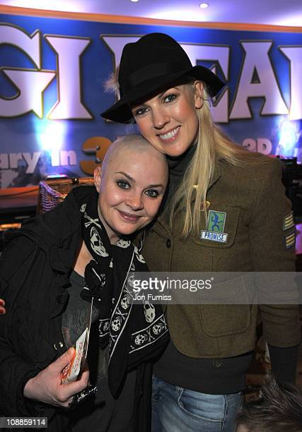 Gail Porter and Nikki Zilli attends the UK premiere of 'Yogi Bear' at Vue West End on February 6 2011 in London England