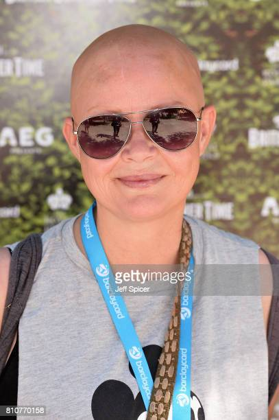 Gail Porter attends a performance of The Killers during the Barclaycard British Summer Time Festival at Hyde Park on July 8, 2017 in London, England.