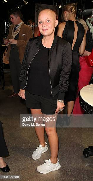 Gail Porter attends the Sorapol presentation during London Fashion Week Spring/Summer collections 2017 at the Illamasqua Flagship Store on September...