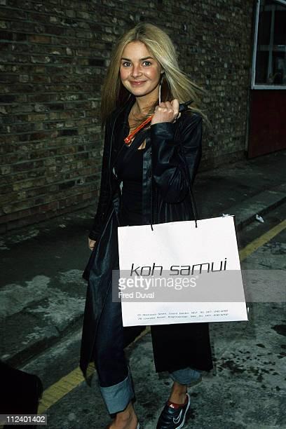 Gail Porter during Gail Porter Arriving at TFI Friday April 1 1999 at TFI Studios in London Great Britain