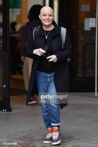 Gail Porter seen outside the ITV Studios on January 27, 2020 in London, England.