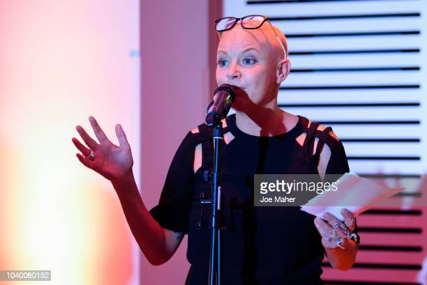Gail Porter talks at Wellcome Collection on September 25, 2018 in London, England.