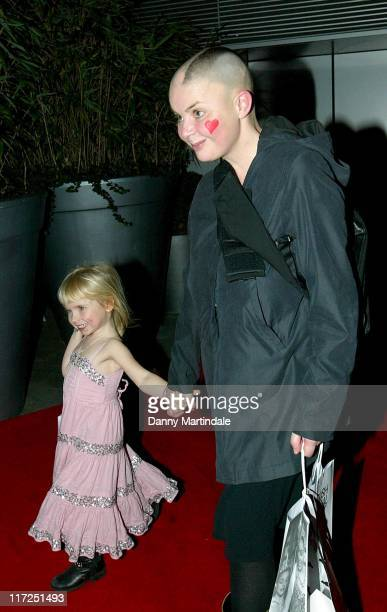 Gail Porter with her daughter Holly during English National Ballet Celebrity Party December 11 2006 at St Martins Lane Hotel in London Great Britain