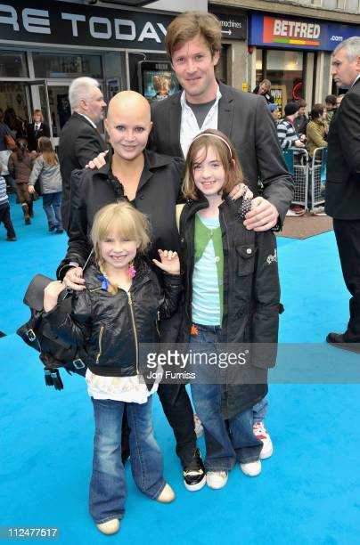 Gail Porter with her daughter Honey and James Lloyd with his daughter Esme attend the Race To Witch Mountain film premiere at the Odeon West End on...