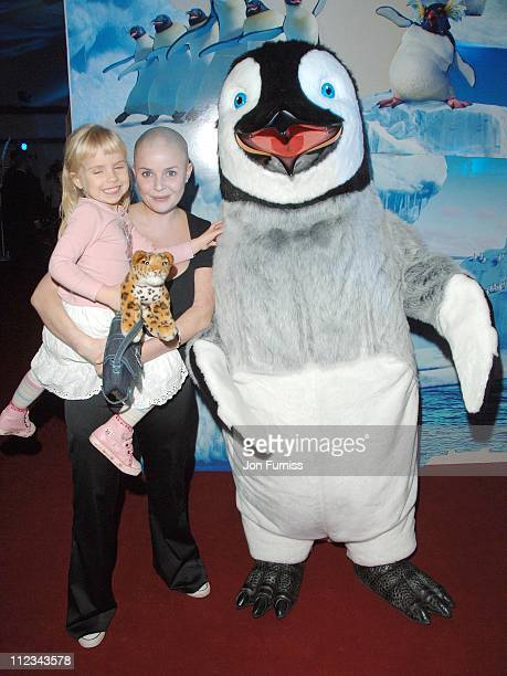 Gail Porter with her daughter Honey during Happy Feet London Premiere After Party in London Great Britain