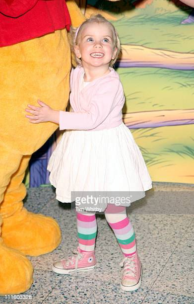 Gail Porter's daughter Honey during National Cuddle Day Photocall April 26 2006 at The Disney Store in London Great Britain