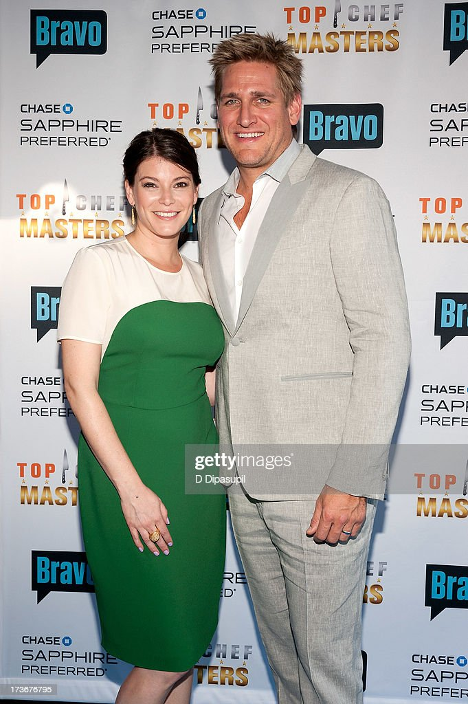 Gail Simmons (L) and Curtis Stone attend Bravo's 'Top Chef Masters' Season 5 Premiere Celebration at 82 Mercer on July 16, 2013 in New York City.