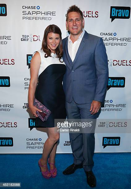 Gail Simmons and Curtis Stone attend the 'Top Chef Duels' series premiere at Altman Building on August 4 2014 in New York City