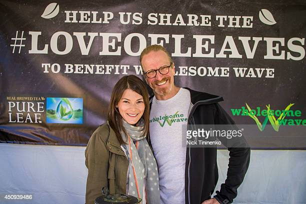 Gail Simmons and Michel Nischan attend Pure Leaf Iced Tea and celebrity culinary expert Gail Simmons help share the #loveofleaves benefitting...