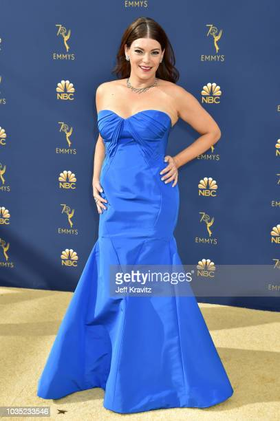Gail Simmons attends the 70th Emmy Awards at Microsoft Theater on September 17, 2018 in Los Angeles, California.