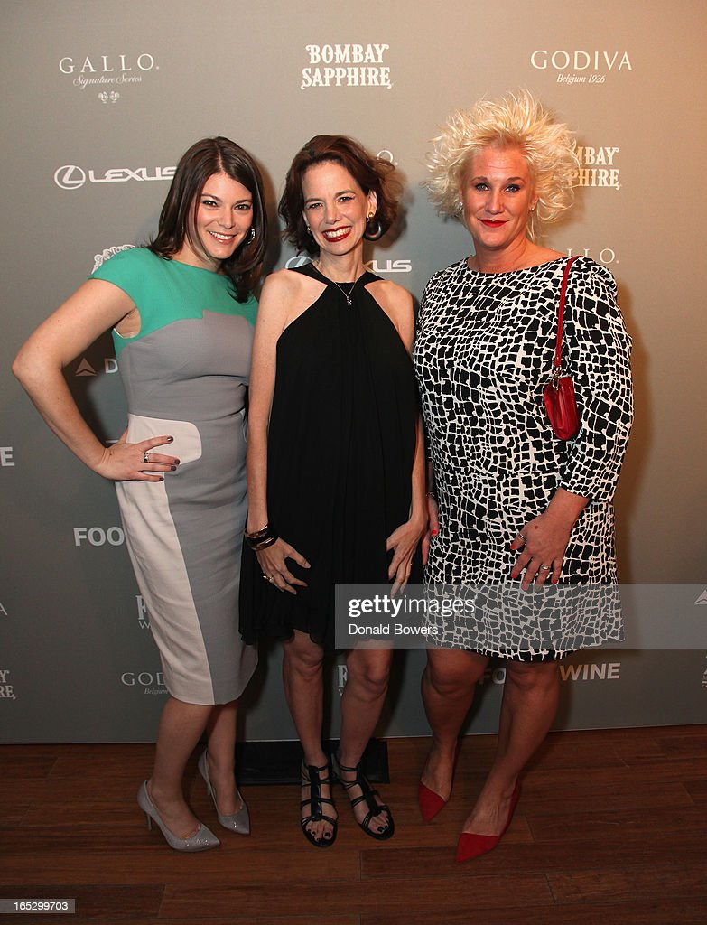 Gail Simmons, Dana Cowin and Anne Burrell attend The FOOD & WINE 2013 Best New Chefs Party at Pranna Restaurant on April 5, 2013 in New York City.