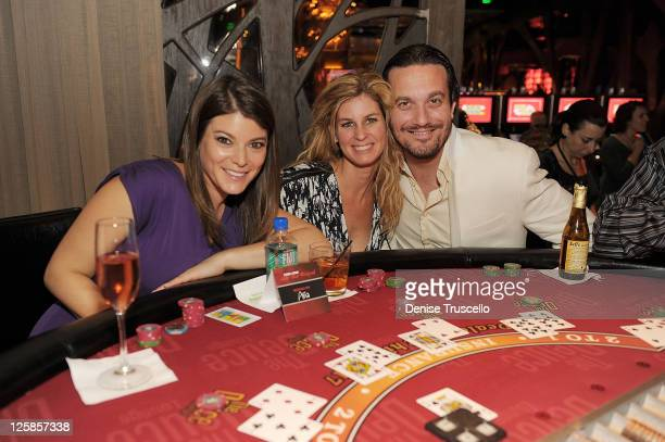 Gail Simmons Jennifer Carroll and Fabio Viviani attend the Food Wine AllStar Weekend Opening Night at CityCenter on November 5 2010 in Las Vegas...