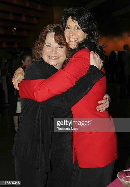 Gail Stocker and Kathy Buckley during Justa Taste Justa Laugh Justice for Women 16th Anniversary Celebration at Directors Guild of America in Los...