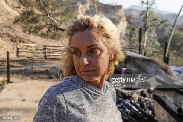 Gail Thackeray is distraught over loss of her home and two horses when Creek Fire swept through Indian Springs Ranch along Little Tujunga in National...
