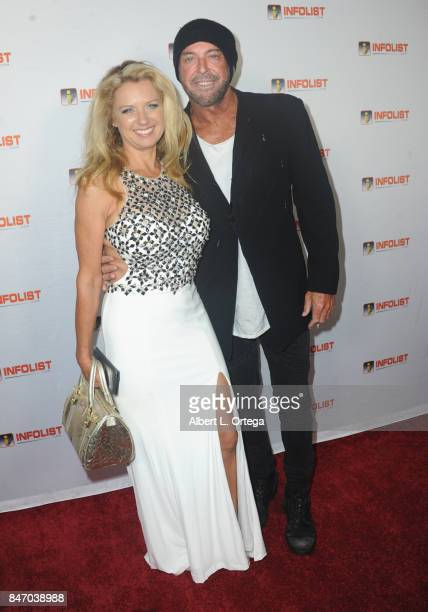 Gail Thackroy and Lance Robbins arrive for the INFOLISTcom's hosted PreEmmys Soiree Benefitting Victims Of Hurricane Harvey held at The Argyle on...