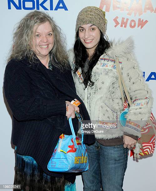 Gail Zappa and Diva Zappa arrive at the Opening Night of The PeeWee Herman Show at Club Nokia at LA Live on January 20 2010 in Los Angeles California