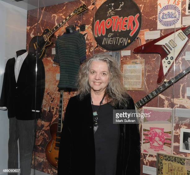 Gail Zappa poses during the Sounds Of Laurel Canyon exhibit launch/event at The GRAMMY Museum on May 9 2014 in Los Angeles California
