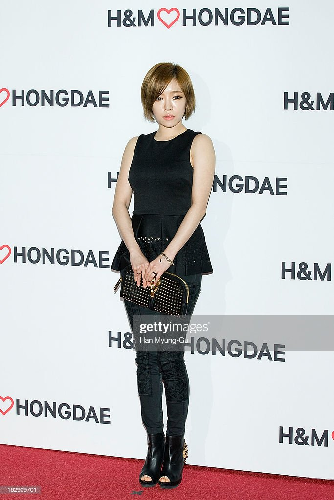 Gain of South Korean girl group Brown Eyed Girls attends the H&M (Hennes & Mauritz AB) Hongik University Store Opening on February 28, 2013 in Seoul, South Korea.
