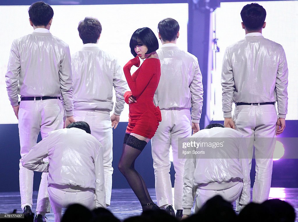 Gain performs onstage during the Mnet 'M Count Down' at CJ E&M Center on February 13, 2014 in Seoul, South Korea.